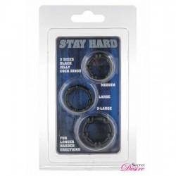 Stay hard 3 przeźroczyste ringi