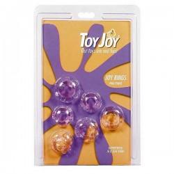 """Zestaw Pierścieni Erekcyjnych """"Joy Rings"""" - przeźroczyste."""